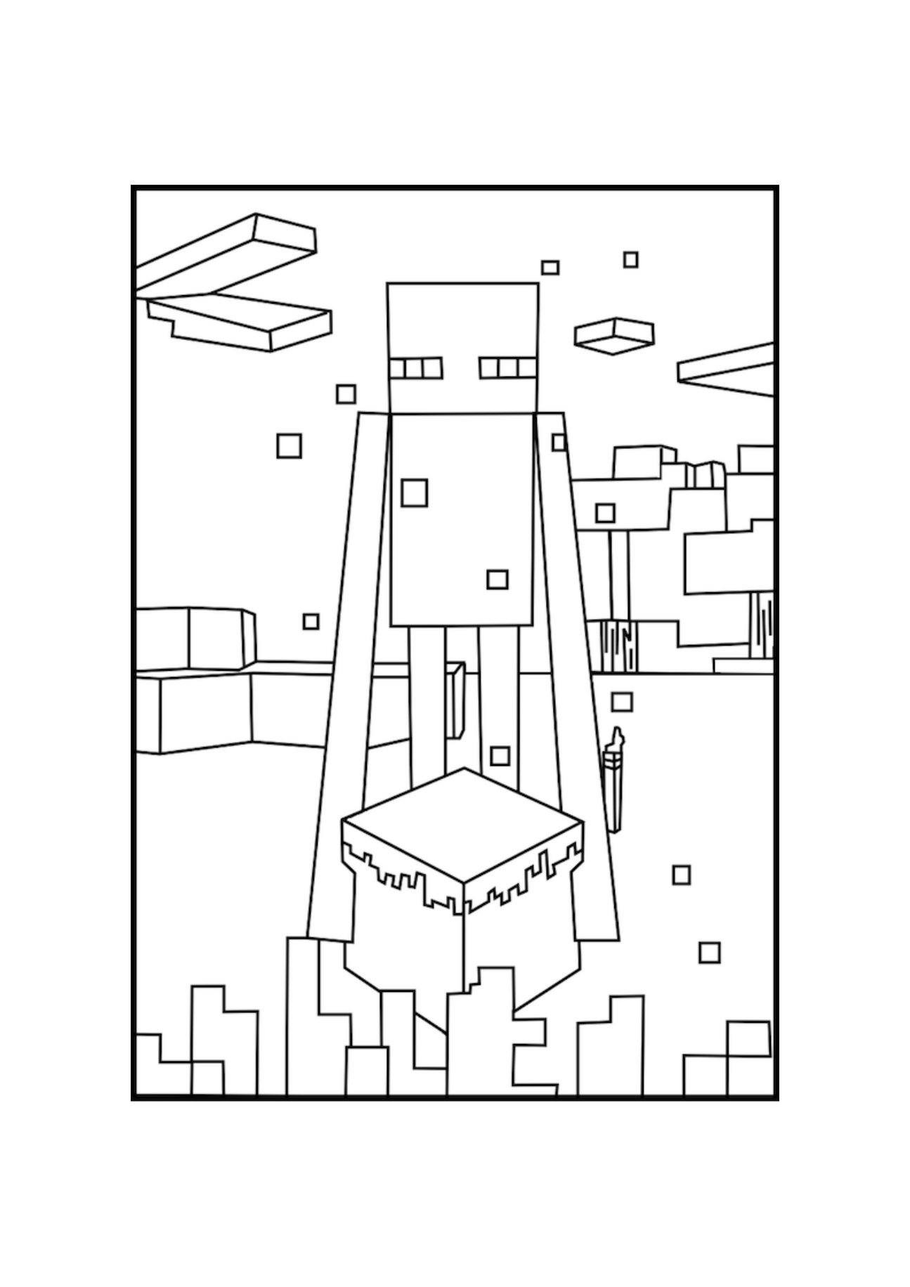 Minecraft Enderman Downloadable Minecraft Coloring Picture