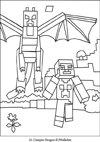 Minecraft Coloring EBook Edition1 Printable Minecraft Coloring Pages