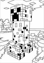 Minecraft House coloring page | Free Printable Coloring Pages | 220x154