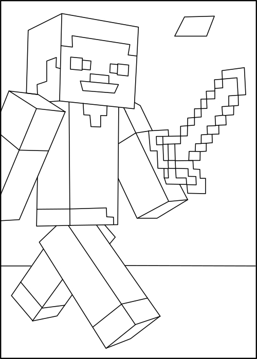 Minecraft Steve An Original Free Minecraft Coloring Page