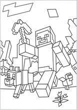 Minecraft Coloring Pages Free Printable Minecraft Coloring Fun